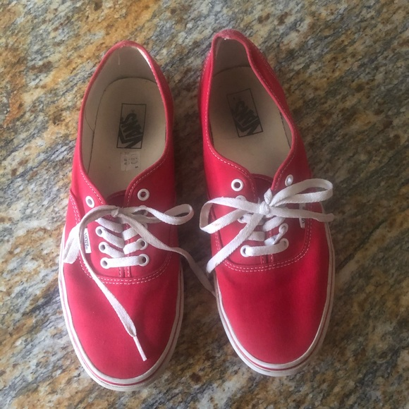 Vans Shoes | Off The Wall Red Sneakers